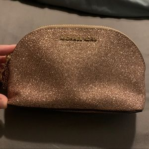 Michael Kors Rose Gold Glitter Makeup bag